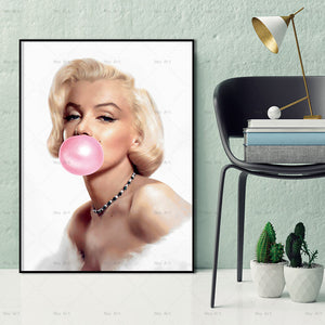 """Pink Marilyn"" wall art"