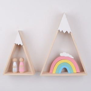 """Snowie"" 2PCS/SET Wooden Wall Shelf"