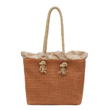 "Load image into Gallery viewer, ""Rattan Beach"" Handmade woven handbag 4 variants"