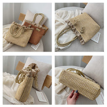 "Load image into Gallery viewer, ""Rattan Beach"" Handmade woven handbag"