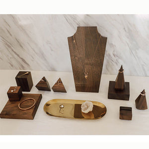 """Black Walnut Fanxi"" Jewelry displays"