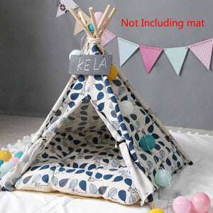 """Teepee Pet Leaves Blue"" Pet teepee"