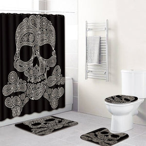 """Skull"" Full bathroom cover set"