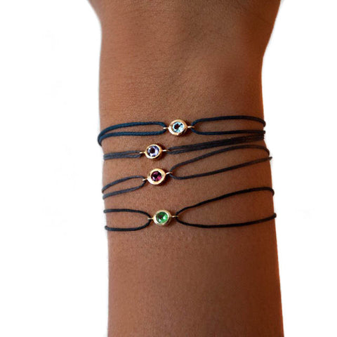 Gemstone friendship bracelets by Vivien Frank Designs