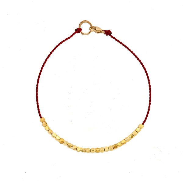 14k solid gold friendship bracelet - Vivien Frank Designs