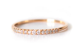 Demi Eternity Ring 18k solid gold - Vivien Frank Designs