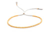 Delicate 10k solid Yellow Gold beaded bracelet
