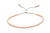 Delicate 14k solid Rose Gold beaded bracelet