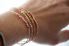 Nugget bracelet - pure silver on rose gold vermeil