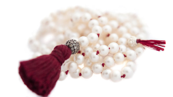Long Necklace with Pearls and diamond - Vivien Frank Designs