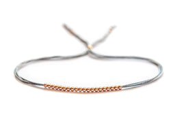 14k rose gold beaded friendship bracelet - Vivien Frank Designs