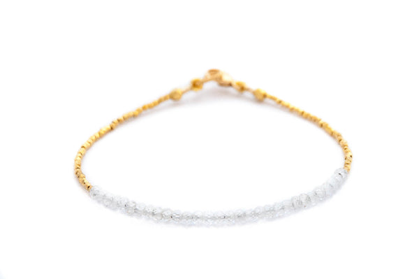 Tennis bracelet Zircon with gold by Vivien Frank - Vivien Frank Designs