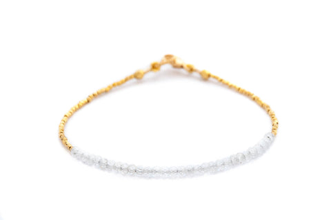 Tennis bracelet Zircon with gold by Vivien Frank