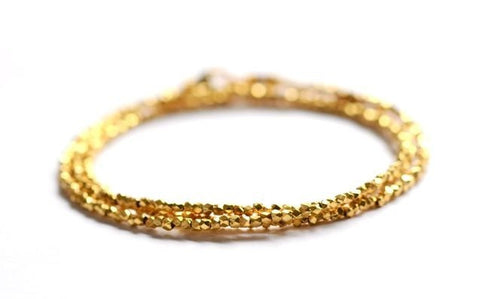 Triple wrap gold essential wrap braclet
