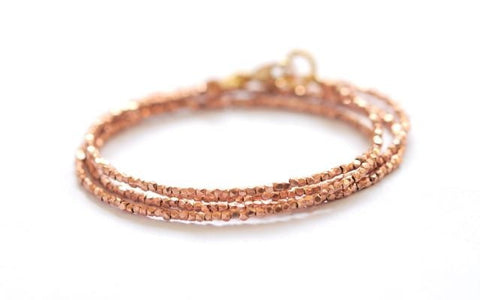 24k Rose Gold vermeil wrap bracelet