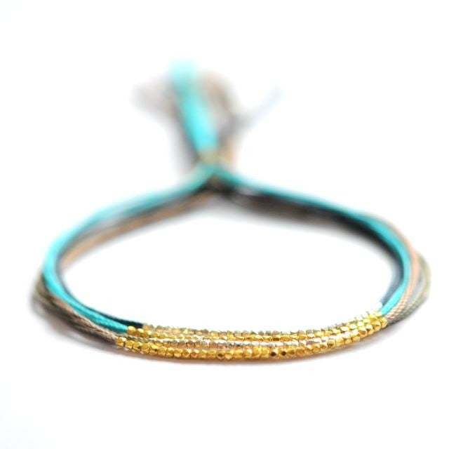 Turquoise with Gold friendship bracelet