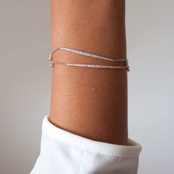 Diamond Bar Bracelet - Vivien Frank Designs