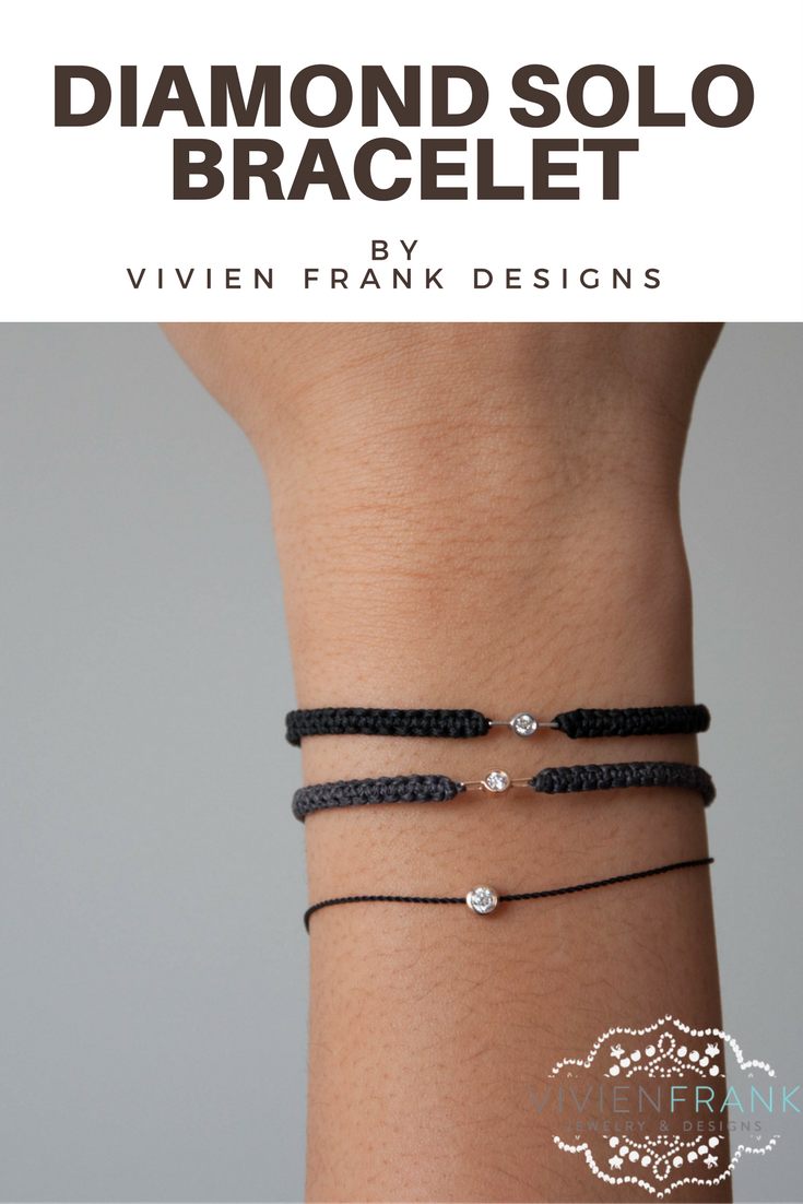 Solo Diamond Bracelet - Small - Vivien Frank Designs