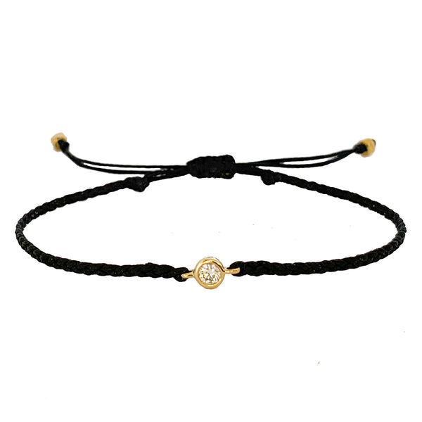 14k Gold Diamond Friendship Bracelets - Vivien Frank Designs