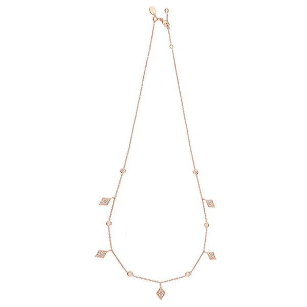 Diamond Dangle Necklace in 14k gold