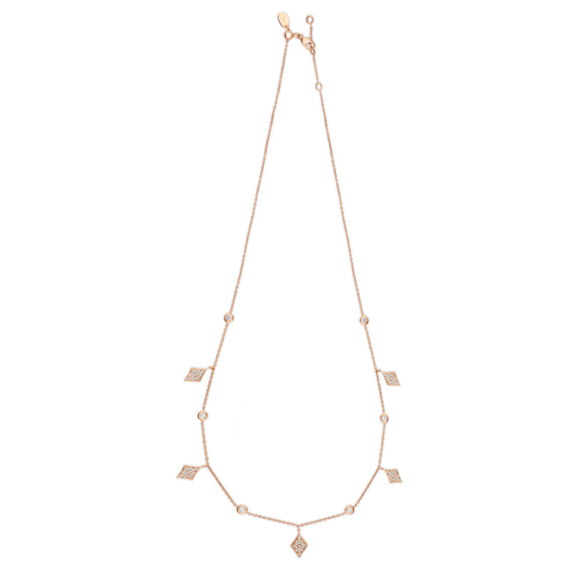 Diamond Dangle Necklace in 14k gold - Vivien Frank Designs
