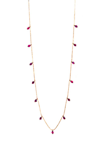 Ruby Droplet necklace in 18k rose gold
