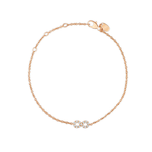 Diamond Infinity Bracelet adjustable gold chain - Vivien Frank Designs