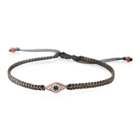 Diamond Evil Eye Macrame Bracelets