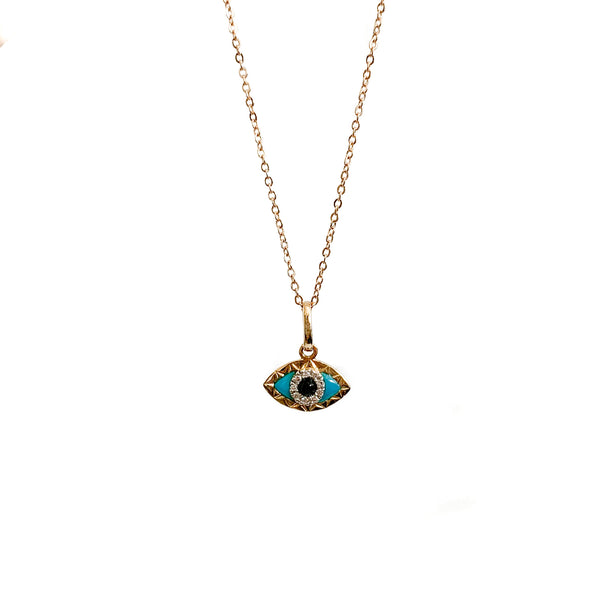 Evile Eye Necklace Gold