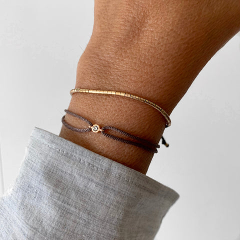 Tube Bracelet in 14k Gold