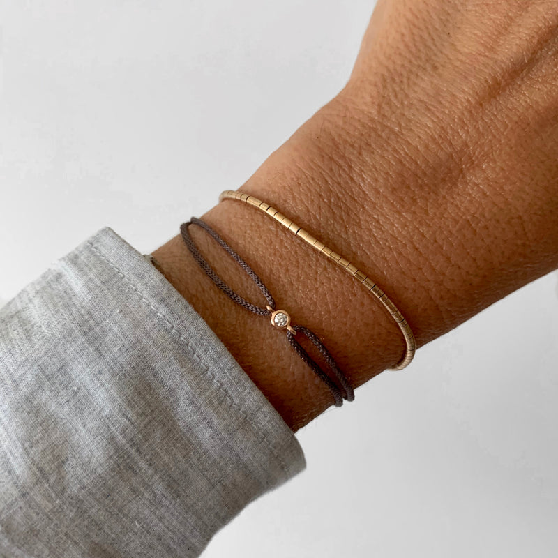 Tube Bracelet in 14k Gold - Vivien Frank Designs