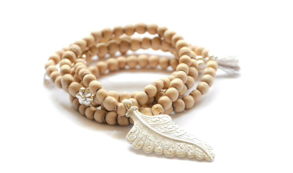 Wood Leaf necklace - Vivien Frank Designs