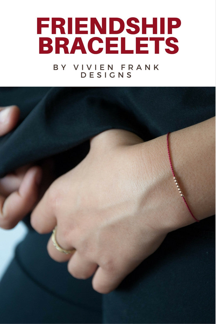 Seven 14k solid rose gold beaded Wish bracelet - Vivien Frank Designs