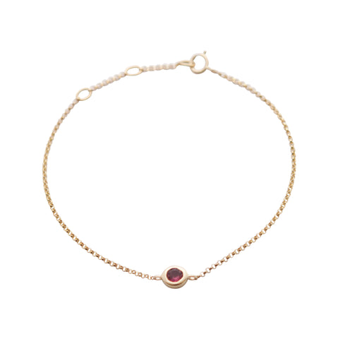 14k gold gemstone bracelets