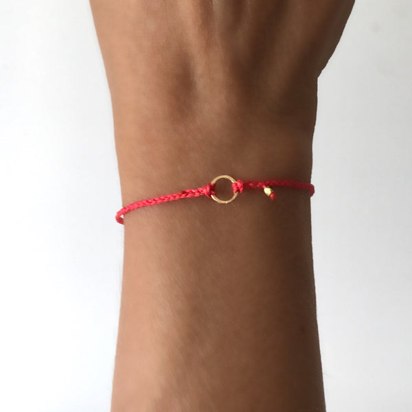 Braided Karma Bracelet in 14k gold - Vivien Frank Designs