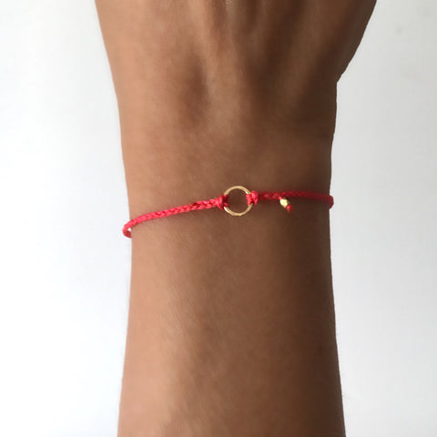 Braided Karma Bracelet in 14k gold