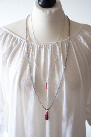 Long Essential Silver Necklace