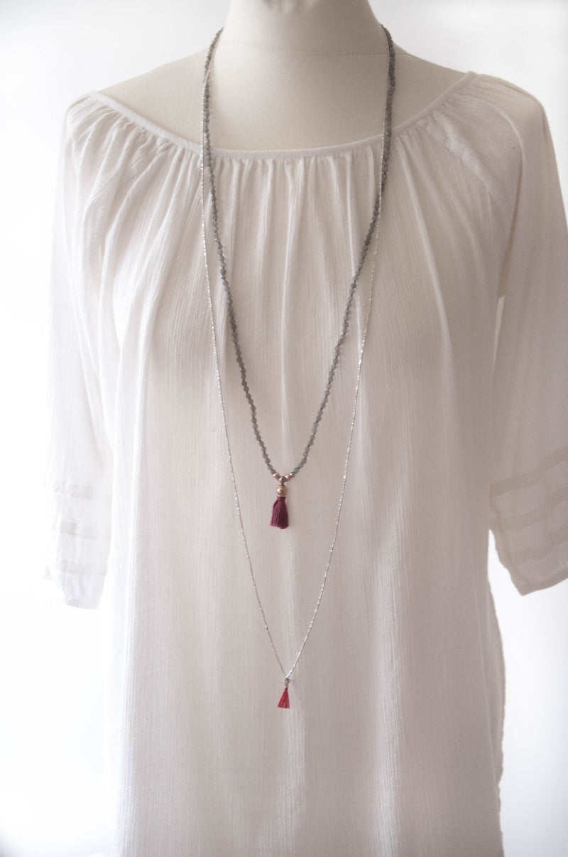 Long Essential Silver Necklace - Vivien Frank Designs