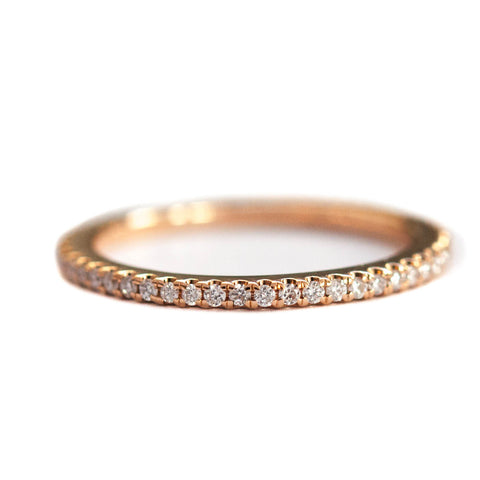White Diamond Eternity Band in 18k Rose Gold