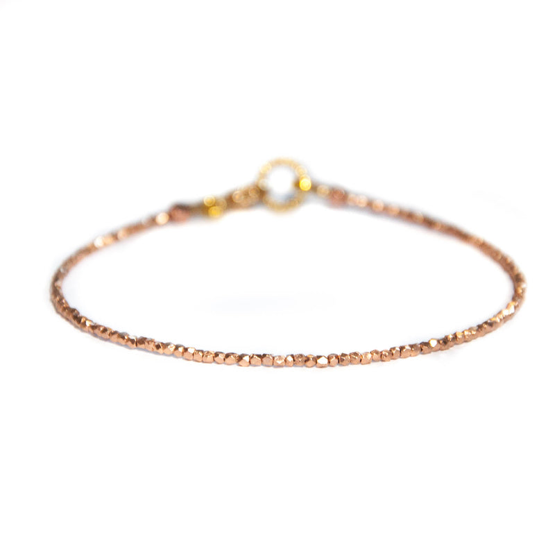 Rose Gold Essential bead bracelet - Vivien Frank Designs