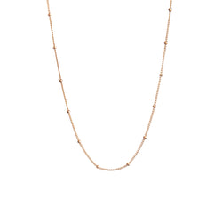 14k Gold beaded Satellite chain - Vivien Frank Designs