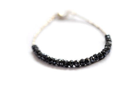 Black Spinel Tennis Bracelet by Vivien Frank Designs