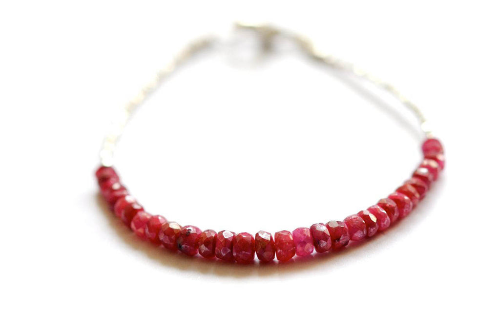 Precious Ruby Tennis/ friendship bracelet by vivien frank designs