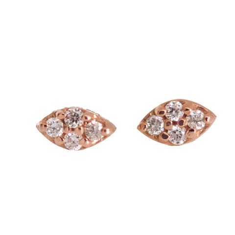 Tiny Diamond Evil Eye Stud Earring