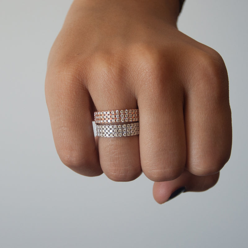 Diamond Cigar Ring - Vivien Frank Designs