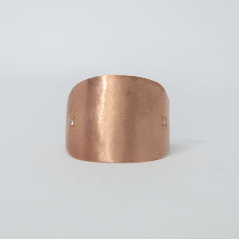 Gold Cigar Ring - Vivien Frank Designs