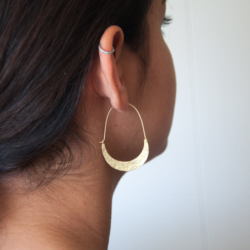 Hammered Hoop Earrings - Vivien Frank Designs