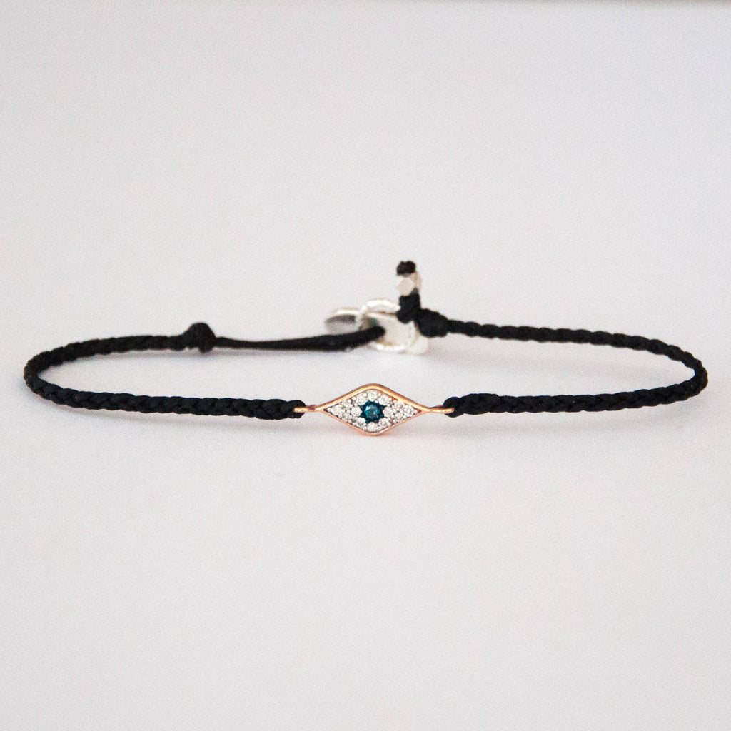 Evil Eye Diamond Friendship bracelet by Vivien Frank Designs