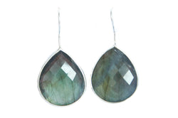 Labradorite earrings - Vivien Frank Designs