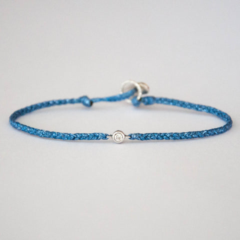 Diamond Friendship Bracelet Sparkly Blue